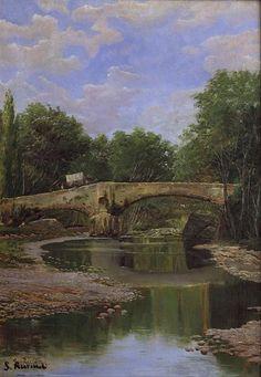 Bridge over a River, 1884 - Santiago Rusinol. Impresionismo