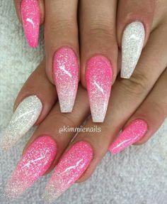 New nails ombre sparkle glitter 43 Ideas - Sparkle Nails Ombre Nail Designs, Acrylic Nail Designs, Nail Art Designs, Nails Design, Glitter Nail Designs, Pedicure Designs, Cute Nails, My Nails, Nagellack Design