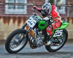 Shayna on a twin last year at Springfield.  This year, on a triumph in the Expert Class!!!!