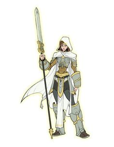 Elspeth takes the top place in my list of most BADASS Characters Art (c) Me Elspeth and Magic: the Gathering (c) Wizards of the Coast