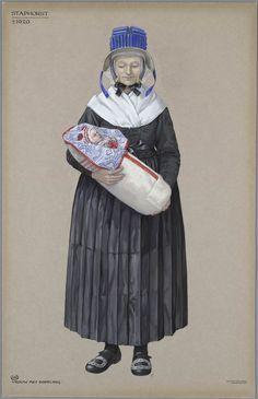 Staphorst ca. 1920. Vrouw met dopeling.