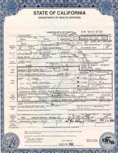 Certification Of Vital Record State Of California Department Of Health Services Birth Certificate Template Fake Birth Certificate Birth Certificate