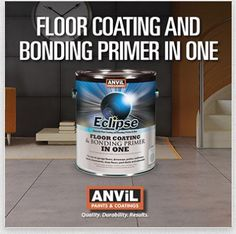 Eclipse - a GREAT product to paint your concrete floors - goes on easy and stays!