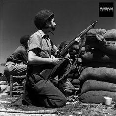 A member of the Haganah, Israel 1948//Robert Capa