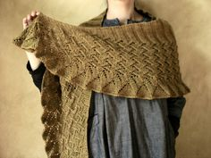 Lin Lin Shawl: In Stitches 2. I love the shape and opportunity for fiber texture here.