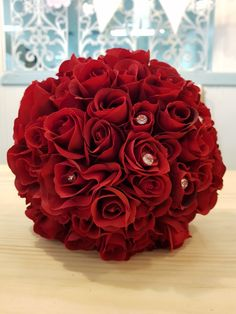 Beautiful Artificial Red Rose Buds