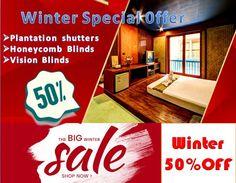 Australian window covering winter offer upto 50% off in Melbourne.