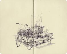 Sketchbook drawings by artist Pat Perry #sketchbook #drawing #draw
