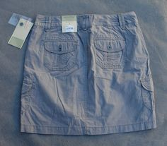 NWT $36 Sonoma Life & Style Original Fit Size 6 Gray Cargo Skort 31 Waist x 17 L - $22.95
