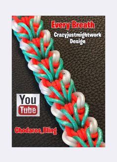 Rainbow Loom Band Every Breath Bracelet How to Tutorial