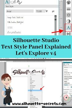Let's Explore – Text Style Panel Silhouette School, Silhouette Cutter, Silhouette Vinyl, Silhouette Cameo Machine, Silhouette Design, Silhouette Studio, Silhouette Cameo Tutorials, Silhouette Projects, Cameo Cutter