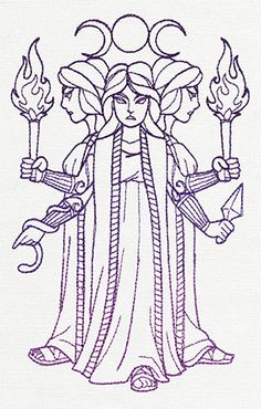 Greek Gods - Hecate - Thread List | Urban Threads: Unique and Awesome Embroidery Designs