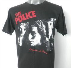 THE POLICE  Rock Music Tshirt  Women Tshirt  Black  by 99rockshop, $14.99