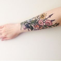 Harriet Tattoo – love the colours here.