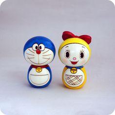 I love Doraemon! Momiji Doll, Kokeshi Dolls, Doraemon Cartoon, Doraemon Wallpapers, Angry Birds Cake, Origami, Vinyl Toys, Wooden Dolls, Classic Toys