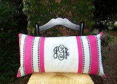 Items similar to Monogram Pillow - Dorm Bedding - College Bedding on Etsy Monogram Pillows, Cute Pillows, Throw Pillows, College Bedding, Dorm Bedding, Cute Dorm Ideas, Baby Ideas, Dorm Life, College Life
