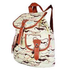 cute mustache backpack