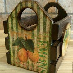 """Ящик для хранения """"Лимоны"""" – купить в интернет-магазине на Ярмарке Мастеров с доставкой"""