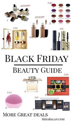 BLACK FRIDAY/CYBER MONDAY - BEAUTY GUIDE. THERE ARE MORE DEALS ON THE WEBSITE .  #blackfriday #blackfriday2017 #blackfridaysale #blackfridayshopping #blackfridaydeal #cybermonday2017 #cybermonday #Deals #beauty #makeup #makeuplovers #Wellness #bodycare #sales #christmasgifts #giftsforher #shopping