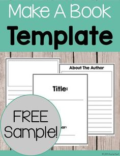 This free Book Template is ready to print and go! Students can create their writing masterpieces with these simple lined writing pages. Also included is the option of picture boxes for students to show off their creativity. Perfect for writing workshop! 3rd Grade Writing, Kids Writing, Teaching Writing, Writing Activities, Writing A Book, Writing Ideas, Teaching Resources, Writing Worksheets, Writing Quotes