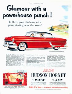 Ad for the 1954 Hudson line-up.