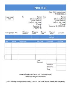 Excel Invoice Template + Tax Invoice Templates  Construction Invoice Template