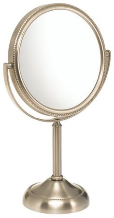 Jerdon JP910NB 6-Inch Table Top Mirror, 10X Magnification, Nickel Finish