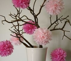 Tissue Paper Pompoms Paper Pom Poms Flower Kissing Balls Home Decoration Festive Party Supplies Wedding Favors Stage Decorations, Birthday Party Decorations, Flower Decorations, Wedding Decorations, Birthday Parties, Craft Flowers, Decor Wedding, Wedding Favors, Paper Flower Ball