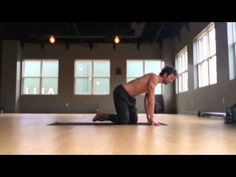Jump/float forward from downward facing dog - yoga tutorial - YouTube