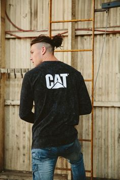 dadc03036a8 CAT Logo Long Sleeve Tee $39.95 CAT Dynamic Denim Pant $99.95 Afterpay  Available