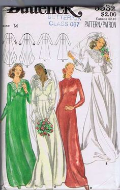 Butterick 5532 Misses' Bridal Gown and by ThePatternShopp on Etsy, $28.00