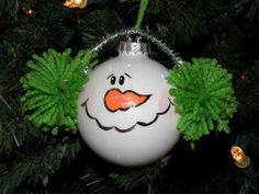 Flakey the Snowball Ornie by maddiepattie on Etsy