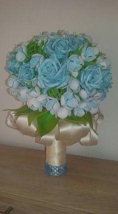 Bouquet di fiori in gomma crepla