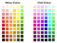 Warm and Cool Color Chart  Emily Snuffer