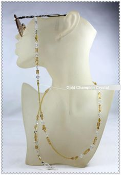 Fashion eyeglass chains accessories crystal eyeglass chains cords holder sunglasses neck lanyards retainers 0910 $14.50