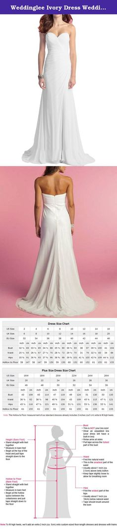 """Weddinglee Ivory Dress Wedding Bride Strapless Beach Wedding Dresses for Bride 2017 Chiffon Slit Bridal Gown Size 24W. Weddinglee Ivory Dress Wedding Bride Strapless Beach Wedding Dresses for Bride 2017 Chiffon Slit Bridal Gown Size 24W Weddinglee is a professional designer and manufacturer for wedding dresses and prom dresses and committed to providing each customer with the highest standard of customer service. We put """"Customer Satisfaction"""" into reality in the course of business, and…"""