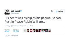 Robin Williams Remembered: A Twitter Tribute #refinery29  http://www.refinery29.com/2014/08/72663/robin-williams-death-twitter-reactions#slide9