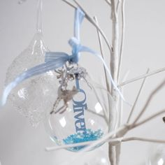 Personalised Papercut Baby's First Christmas Bauble