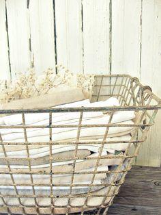 Basket of linens