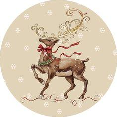 Международный университет декупажа Christmas Topper, Christmas Deer, Vintage Christmas, Christmas Crafts, Christmas Decorations, Christmas Labels, Christmas Clipart, Christmas Printables, Images Vintage