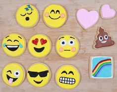 How to Make Emoji Cookies *Insert Dancing Ladies* via Brit + Co.