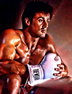 Digitalart by on deviantart Sylvester Stallone as Rocky Balboa Rocky Sylvester Stallone, Rocky Stallone, Silvestre Stallone, Rocky Balboa Poster, Rocky Film, Harey Quinn, John Rambo, Boxing Posters, The Expendables