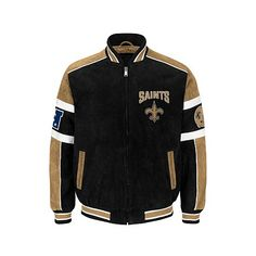 NFL Colorblocked Suede Jacket