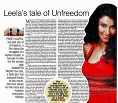 Leela's tale of Unfreedom Preeti Gupta interview with The Times of India
