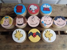Charlie Brown fondant toppers/cupcakes