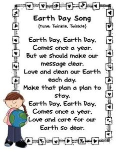 Here's a set of poems and songs for Earth Day.: