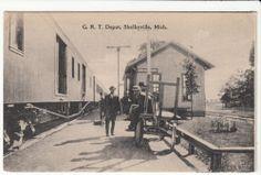 Shelbyville, Michigan- Railroad Depot-  1909