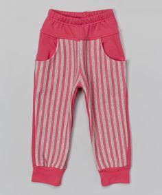 Another great find on #zulily! Pink Stripe Harem Pants - Toddler & Girls #zulilyfinds