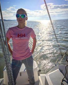 Enjoying the sunset on the boat!