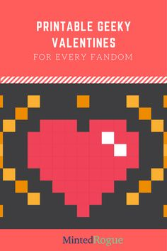Left your Valentine's Day card to the last minute? never fear - we've got a printable geeky valentine for every fandom right here!